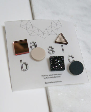 Basic Pins Set - Gold Rose