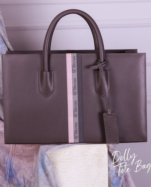 Grey Dolly Tote Bag