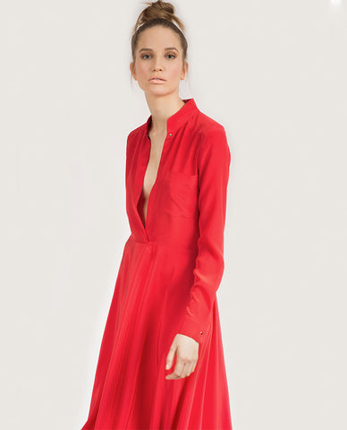 Koko Viscose Dress - Red