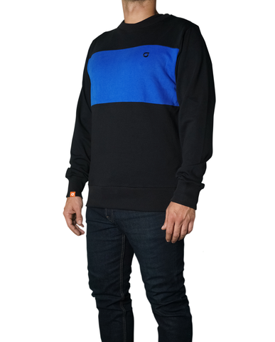 Sweater01 Black - Royal Blue