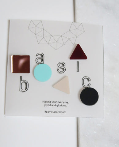 Basic Stud Earrings - Mint