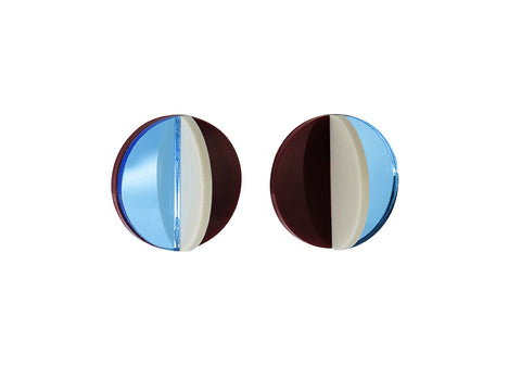 PAMELA COROMOTO Dexel Earrings Mini - Blue - Grom & Kakao