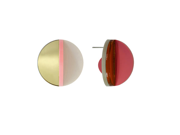 PAMELA COROMOTO Dexel Earrings Mini - Gold/Candy - Grom & Kakao