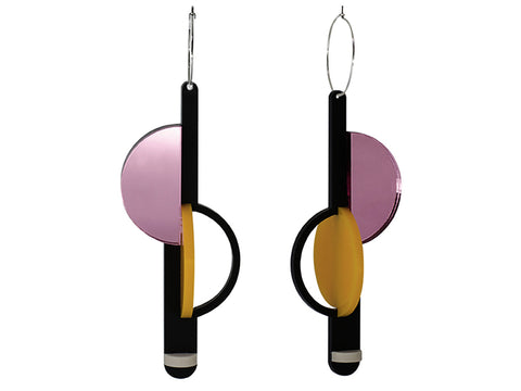 PAMELA COROMOTO El Lissitzky Earrings Pink - Grom & Kakao