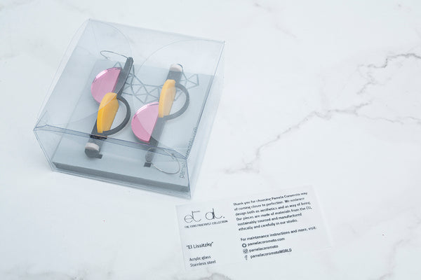 PAMELA COROMOTO El Lissitzky Earrings Gold - Grom & Kakao