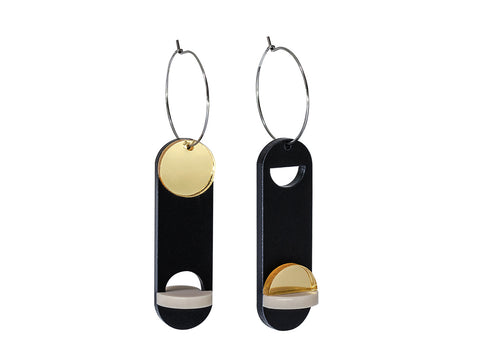 PAMELA COROMOTO Moholy Nagy Earrings Gold - Grom & Kakao