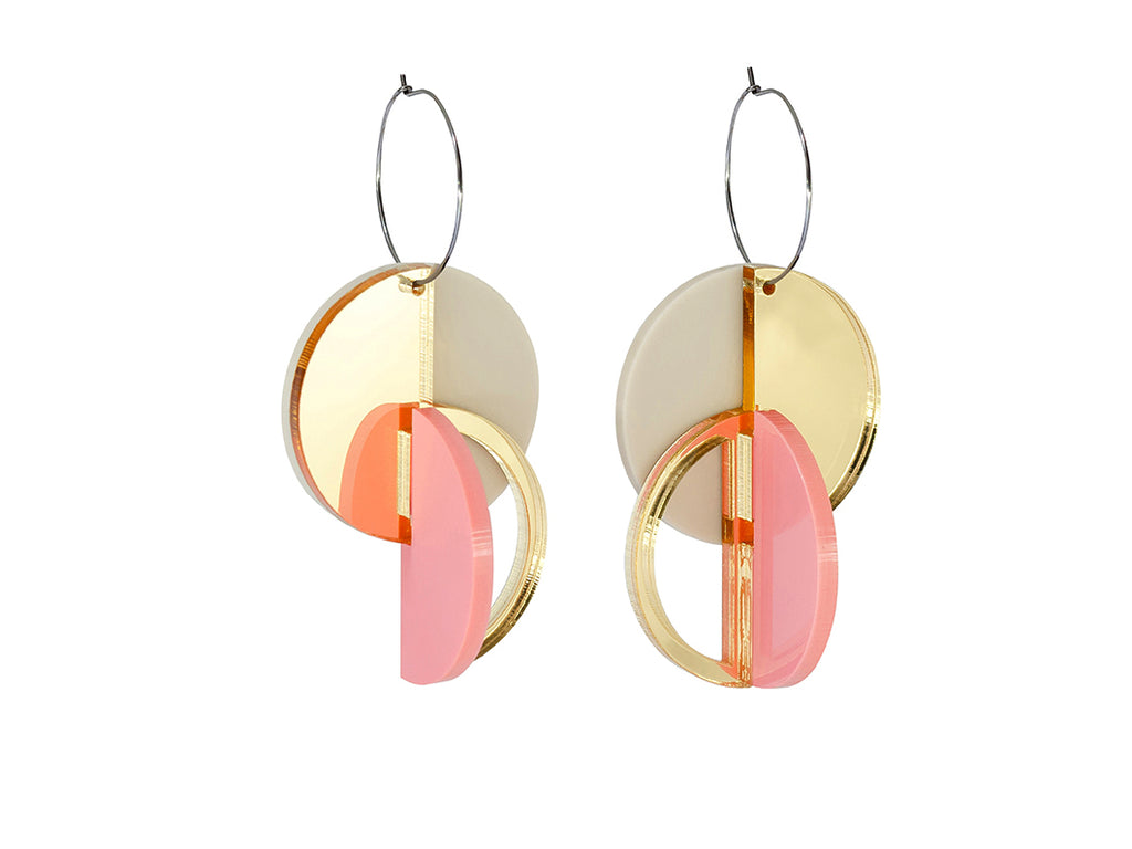PAMELA COROMOTO ROTCHENKO Earrings - Gold/Candy - Grom & Kakao