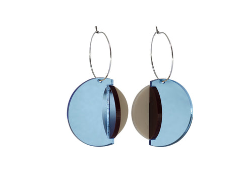 PAMELA COROMOTO Dexel Earrings - Blue/Beige - Grom & Kakao