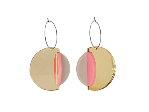 PAMELA COROMOTO Dexel Earrings - Gold/Candy - Grom & Kakao