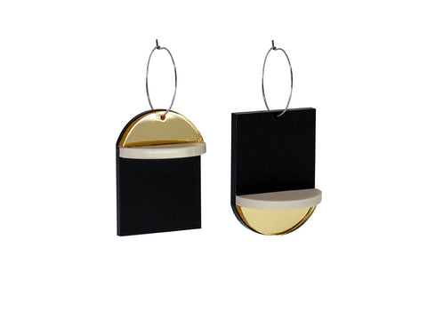 PAMELA COROMOTO Popova Earrings Gold - Grom & Kakao