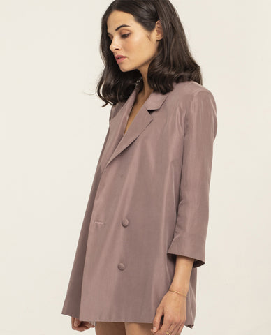 SIMONE Silk Jacket - Warm Lilac