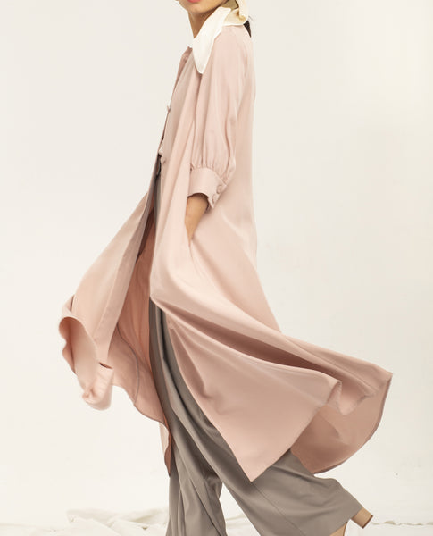 SHASH JANETTE DUSTY PINK LYOCELL DRESS - Grom & Kakao