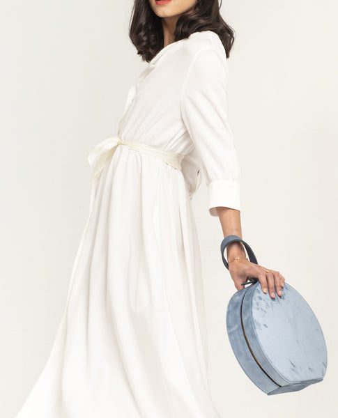 SHASH JANETTE PURE WHITE LYOCELL DRESS - Grom & Kakao