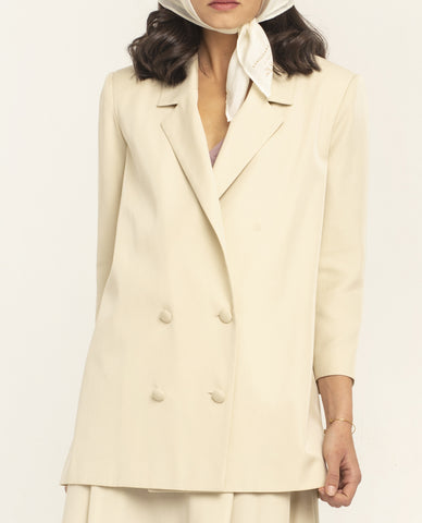 SIMONE LIGHT BEIGE LYOCELL JACKET