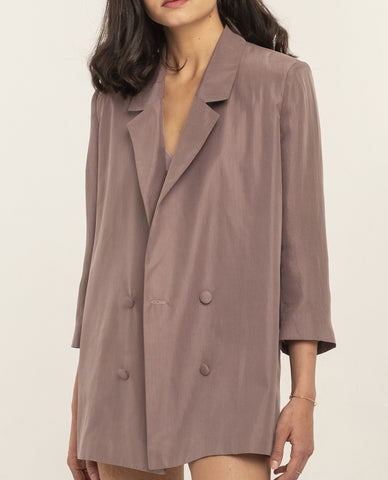SIMONE WARM LILAC SILK JACKET