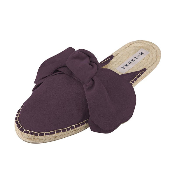 Wine Bow Slippers