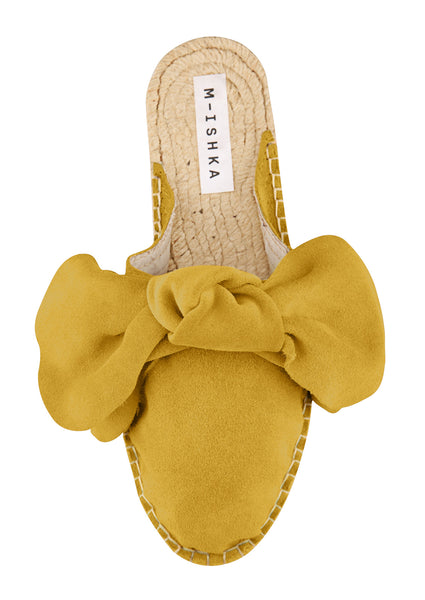 M-ISHKA Yellow Bow Slippers - Grom & Kakao