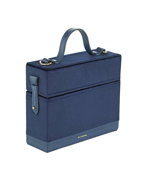 Navy Blue Box Bag