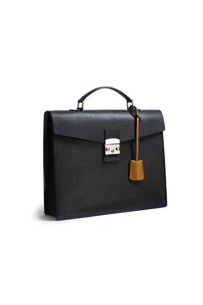 OTENBERG Brown Leather Briefcase - Grom & Kakao