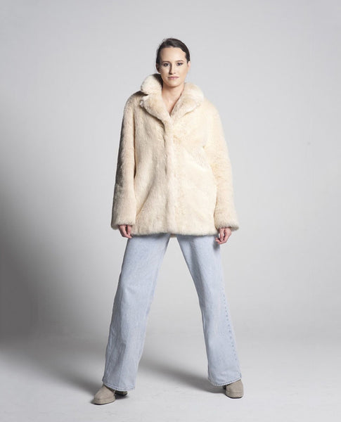 Irina Faux Fur Jacket / Ivory