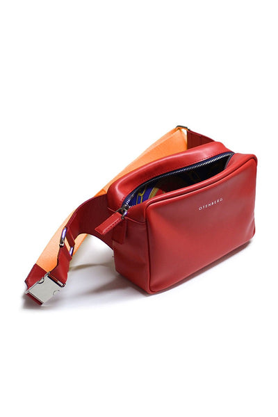 OTENBERG Red Leather Beltbag - Grom & Kakao