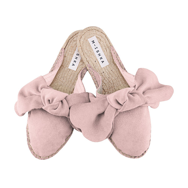 Pastel Rose Bow Slippers