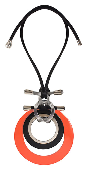 ID DESIGN Neon Orange Busy Bee XL ogrlica - Grom & Kakao
