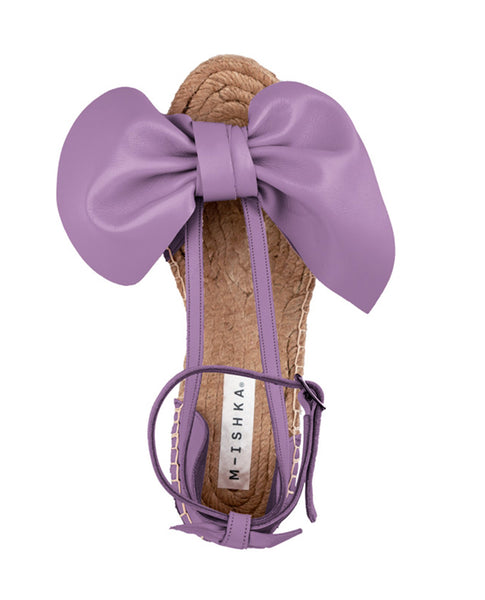 Lavender Bow Wedges