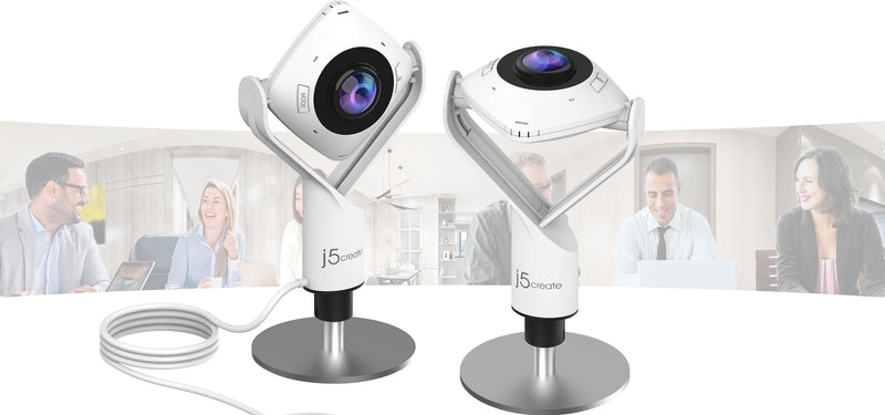 Introducing j5create's Latest Innovation, the JVCU360 360° All Around Webcam