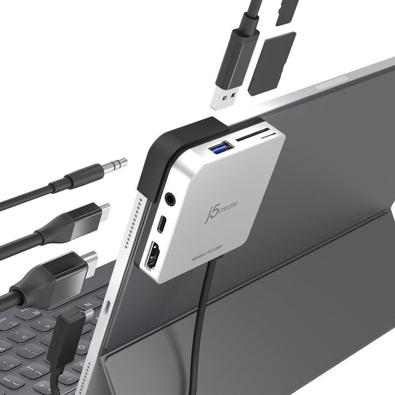 JCD612 USB-C™ to 4K60 Hz HDMI™ Travel Dock for iPad Pro®