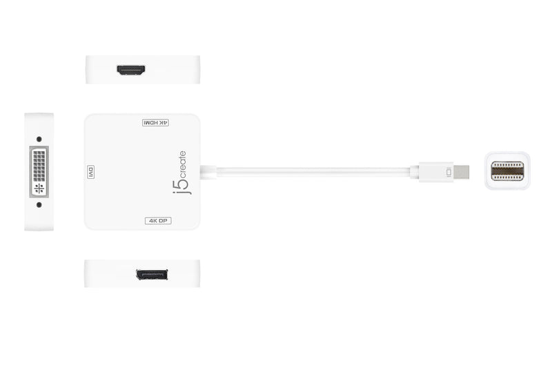 JDA173 mini DisplayPort™ to 4K DisplayPort™/4K HDMI™/DVI