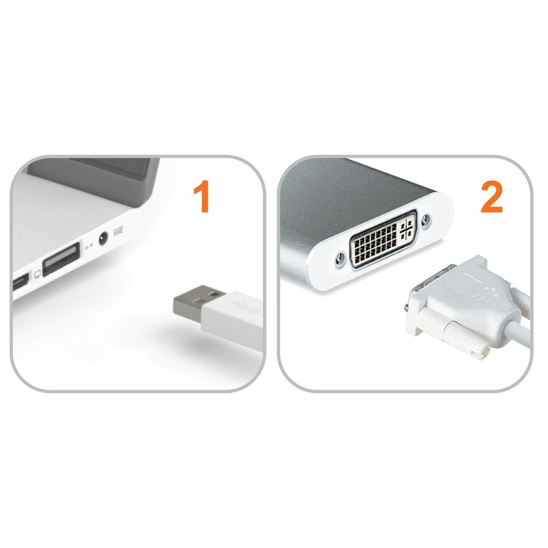 JUA230 USB™ 2.0 DVI Display Adapter