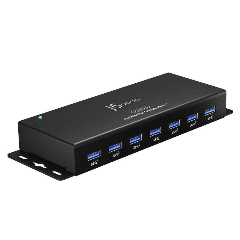JUH370 7-Port USB™ 3.0 Industrial Hub with ESD and Surge Protection