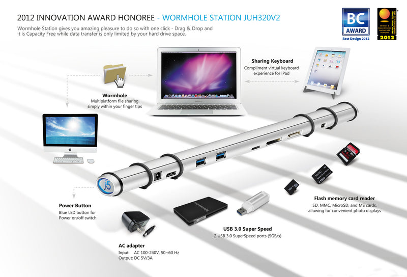 JUH320v2 USB 3.0 Wormhole Docking Station