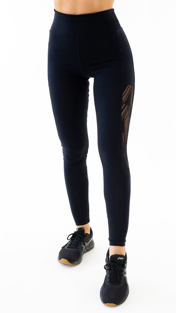 Black Lace Kate Legging L7023 - Equilibrium Activewear
