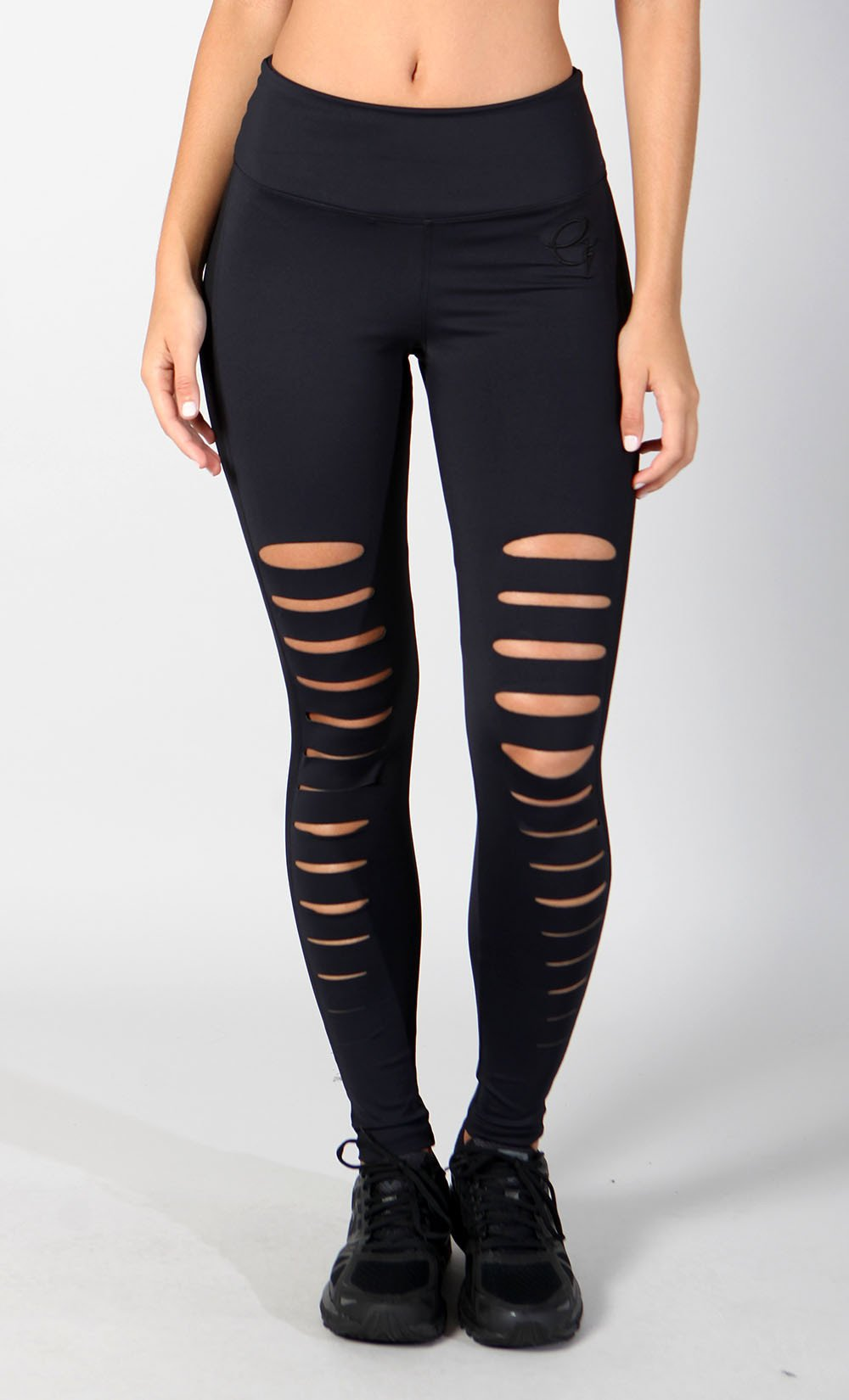Black Slash Legging - Equilibrium Activewear