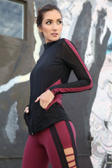 Ninja Jacket J818 Bordeaux - Equilibrium Activewear