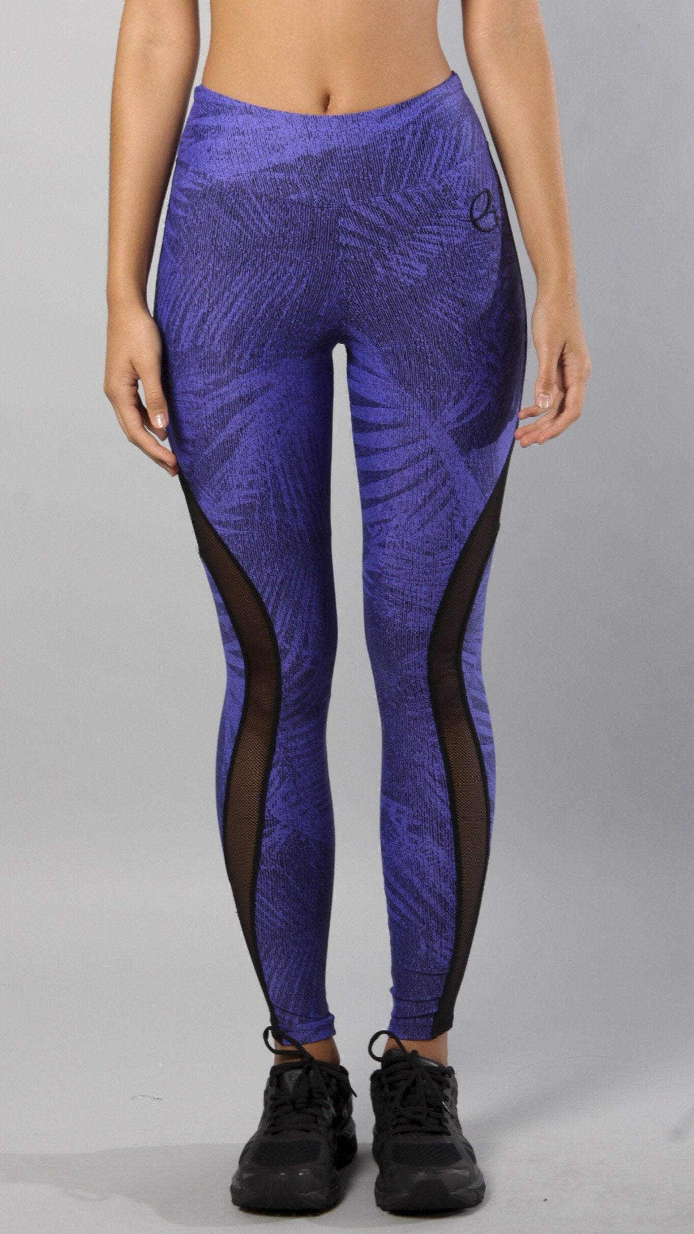 Designer Blue and Black Legging L7005 - Equilibrium Activewear - Image 1