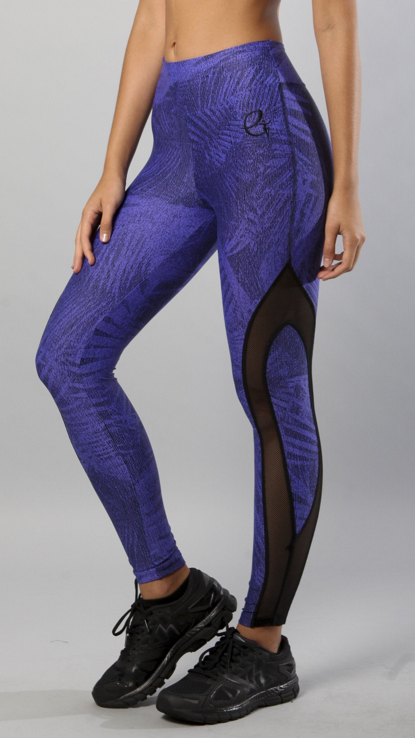 Designer Blue and Black Legging L7005 - Equilibrium Activewear - Image 5