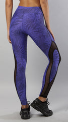 Designer Blue and Black Legging L7005 - Equilibrium Activewear - Image 6