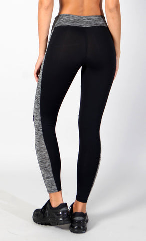 Heather Grey Black Legging L7006 - Equilibrium Activewear
