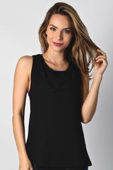 Black Slashback Top LT1090 - Equilibrium Activewear