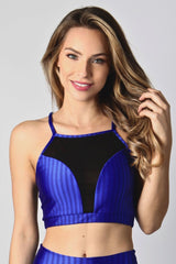 Royal and Black Bra Top  T448 - Equilibrium Activewear