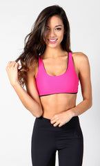 Pink Spider Back Bra Top T415 - Equilibrium Activewear