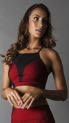 Bra Top T448 Red Jackquard