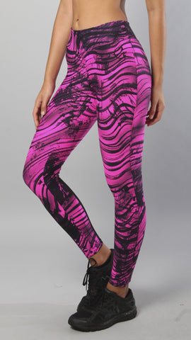 Designer Pink and Black Legging L7012 - Equilibrium Activewear - Image 5