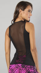 Designer Black Sleeveless Long Top LT1061 - Equilibrium Activewear - Image 2