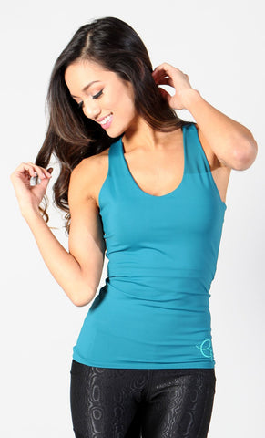 Turquoise Tie-back Top LT129 - Equilibrium Activewear