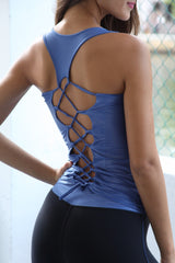 Designer Alicia Blu Long Tank Top LT129 - Equilibrium Activewear - Image 5