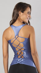 Designer Alicia Blu Long Tank Top LT129 - Equilibrium Activewear - Image 2
